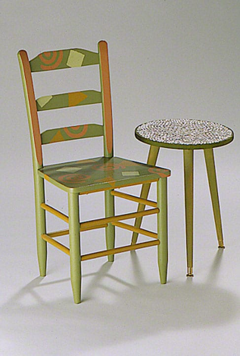 Chair & Button Table